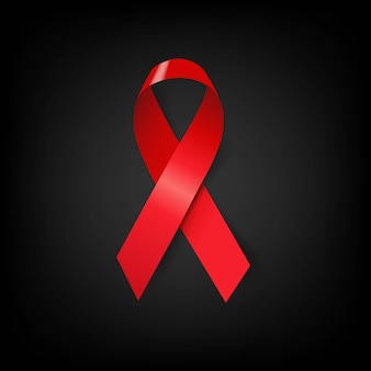 Aids day symbol rotes band schwarzes poster
