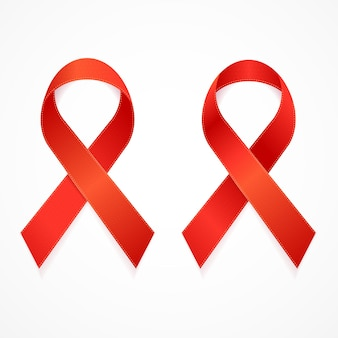 Aids ribbon set isoliert.