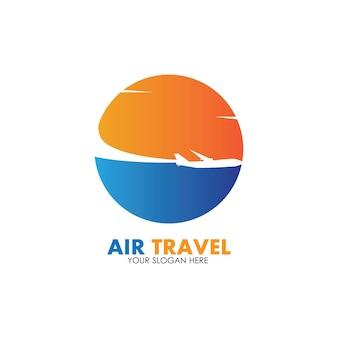 Air travel logo vektor icon design template-vektor