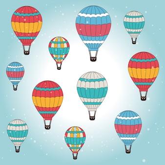 Airballoon-design über weißer backgroundvector illustration