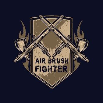 Airbrush-emblem