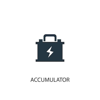 Akku-symbol. einfache elementabbildung. akkukonzept symboldesign. kann für web und mobile verwendet werden.