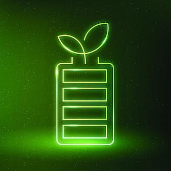 Akku symbol vektor umweltfreundliches symbol