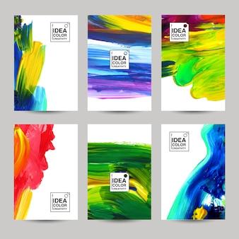Akriles textur-banner-set