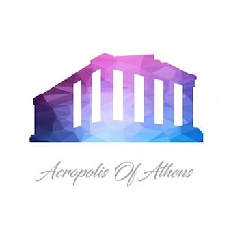 Akropolis von athen polygon