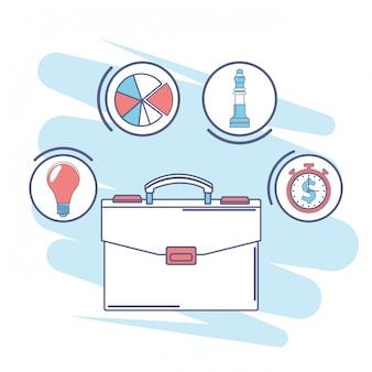 Aktenkoffer finanzielle symbole