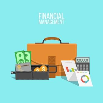 Aktenkoffer mit finanziellen elementen