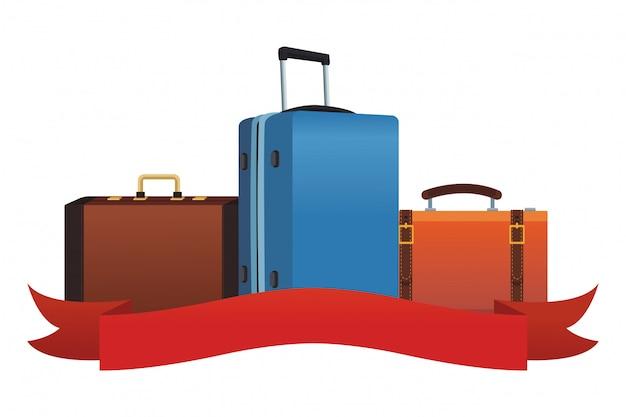 Aktenkoffer-symbol für reisen