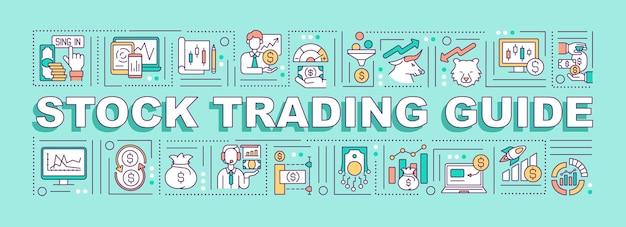Aktienhandel leitwortkonzepte illustration