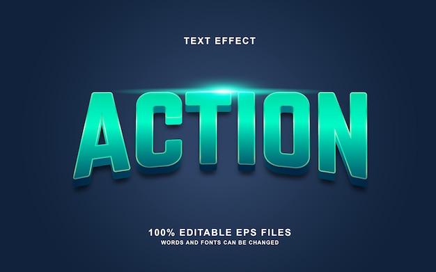 Aktionstextstil-effekt