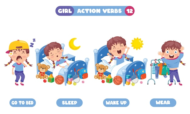 Aktionsverben für die kindererziehung