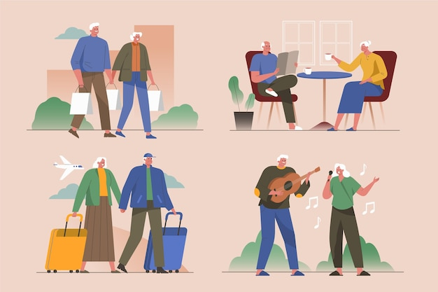 Aktive ältere menschen