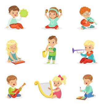 Aktive freizeit für kinder. karikatur detaillierte bunte illustrationen auf weißem hintergrund