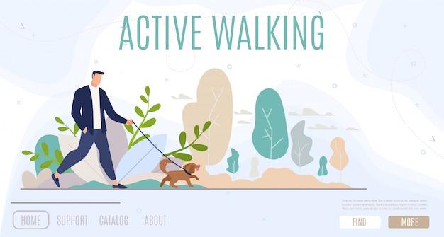 Aktive freizeitgestaltung im city web banner