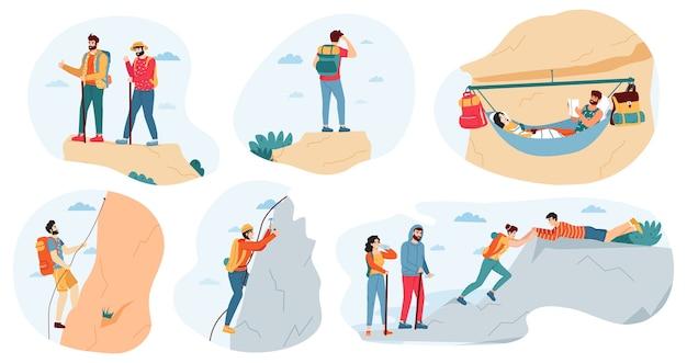 Aktive illustration für aktivitäten im freien