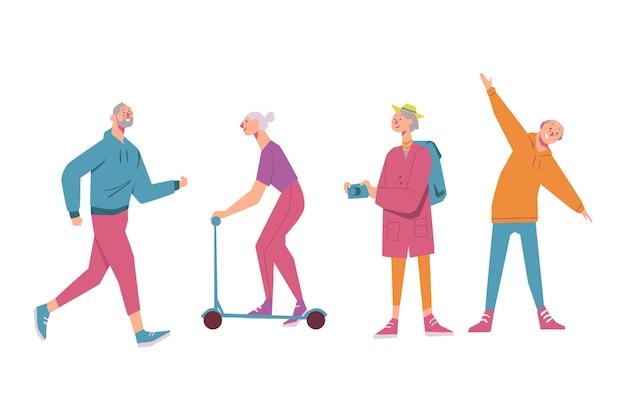 Aktives konzept für ältere menschen