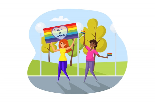Aktivismus, lgbt parade-konzept.