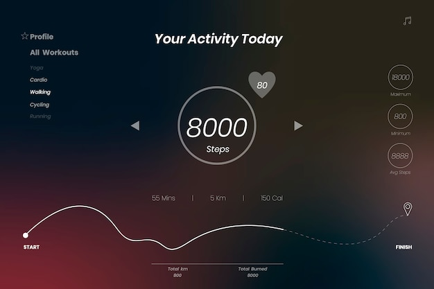 Aktivitäts-app-hintergrund