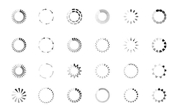 Aktualisierte schaltfläche für das vektor-loader-symbol für den fortschritts-kreisbalken