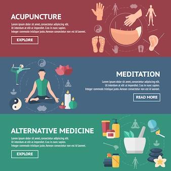 Akupunktur banner set