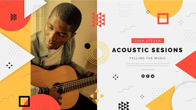 Akustik deckt musik youtube-kanalkunst ab