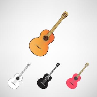Akustische und elektrische gitarren