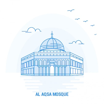 Al aqsa mosque blue landmark