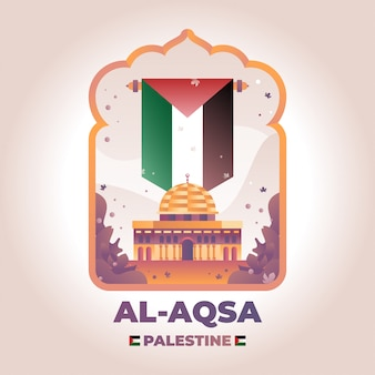 Al aqsa palästina illustration