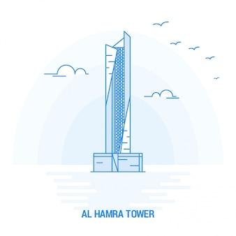 Al hamra tower blaues wahrzeichen