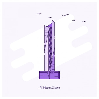 Al hamra tower wahrzeichen