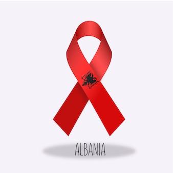 Albanien-flaggenbandentwurf