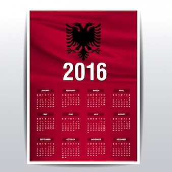 Albanien-kalender 2016