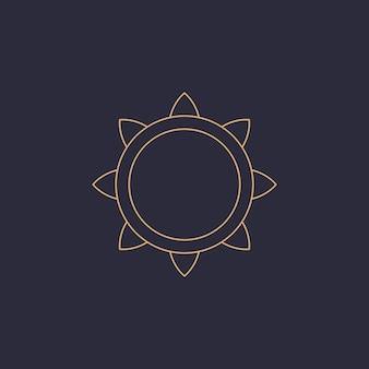 Alchemie esoterische mystische magie himmlischer talisman liniensymbol spirituelles okkultismus-objekt