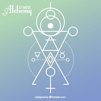 Alchemy symbol mit geometrischen formen