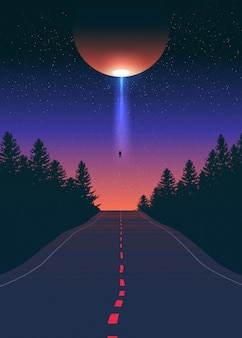 Alien abduction art