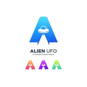 Alien brief ein niedlicher raum