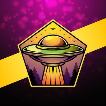Alien-esport-maskottchen-logo-design