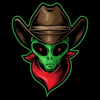 Alien kopf cowboy