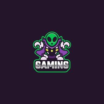 Alien logo maskottchen