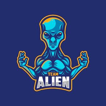 Alien logo team oder mannschaft