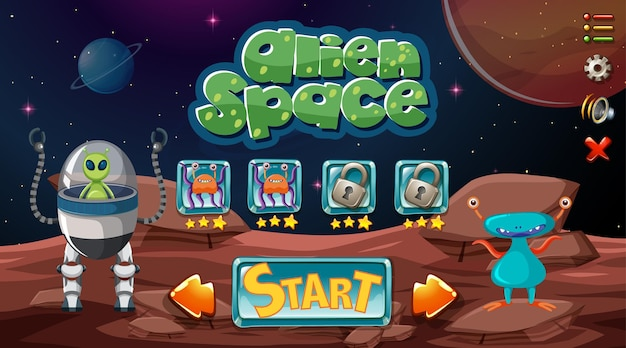 Alien space game hintergrund