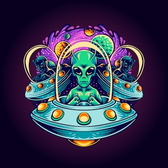 Alien terror illustration