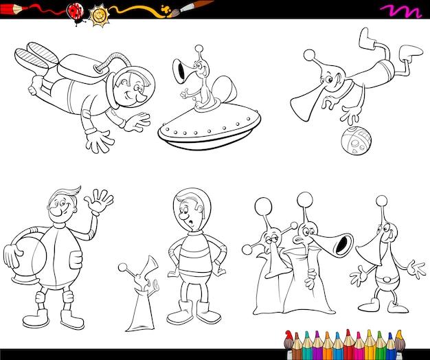 Aliens cartoon malvorlagen
