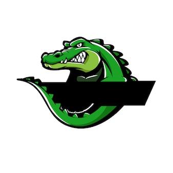 Aligator / krokodil-maskottchen-logo-logo-konzept