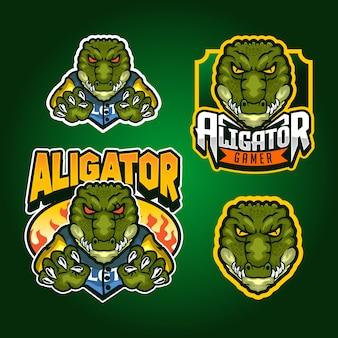 Aligator maskottchen illustration