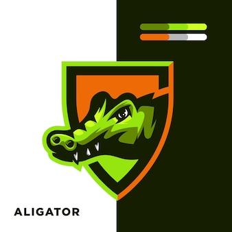Aligator-maskottchen-logo