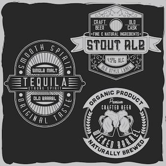 Alkoholetiketten Premium Vektoren