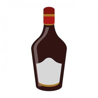Alkoholflasche trinken
