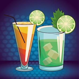 Alkoholische getränke getränke cartoon