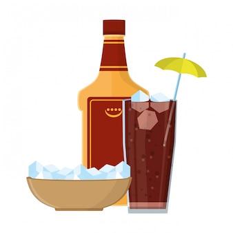 Alkoholisches getränk cartoon